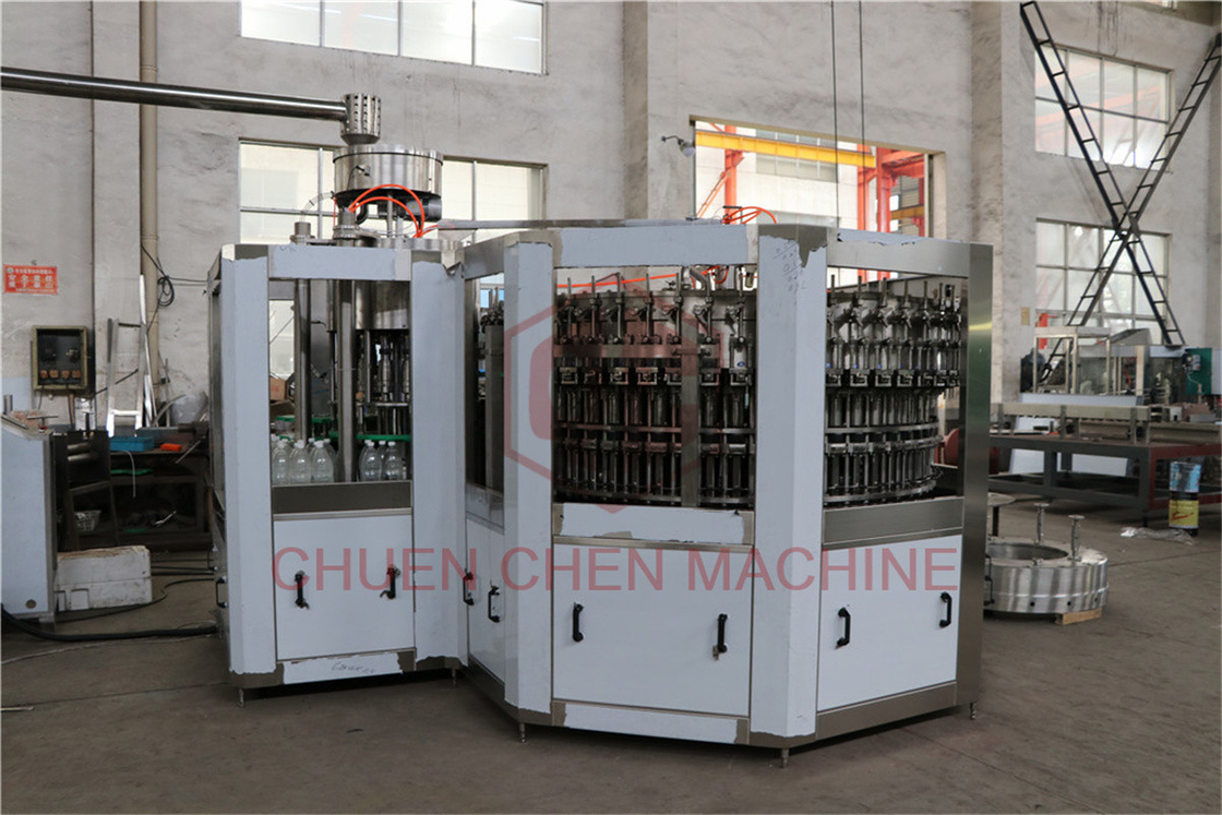 PET Bottled Carbonated Soft Drink Filling Machine Combi 3 In 1 Bottling Equipment