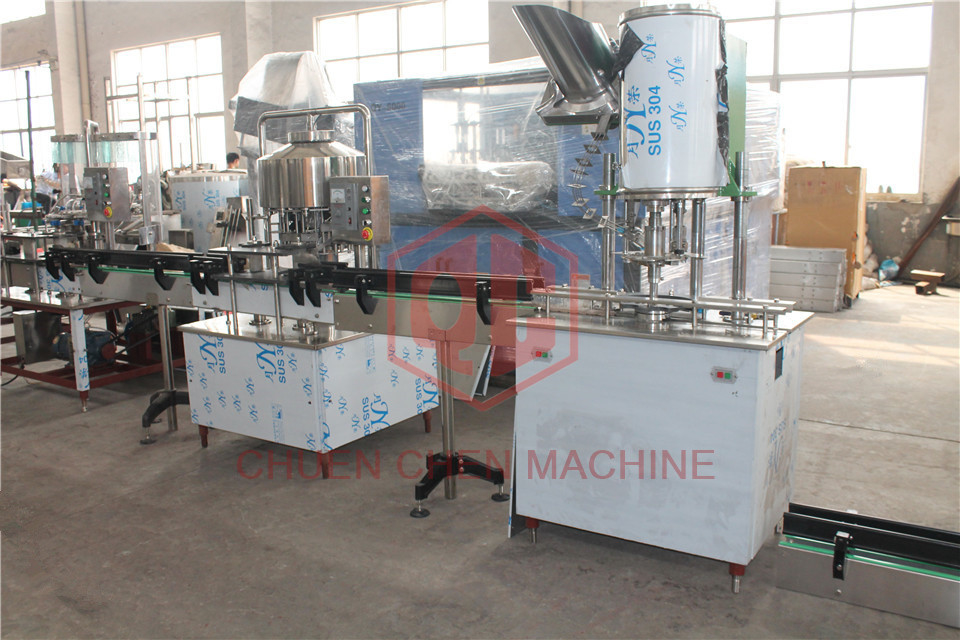 PLC Control 2000BPH 116mm Automatic Water Bottle Filler