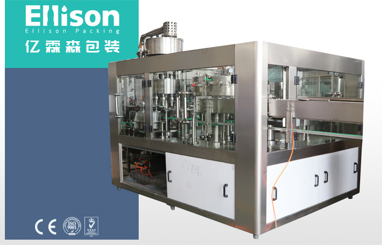 Double Vaccum Plastic Bottle Carbonated Beverage Filler With Counter Pressure Method